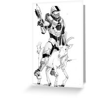 Chief and his Mighty Steed Greeting Card