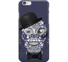 Mr Bones Funny Sugar Skull Illustration iPhone Case/Skin
