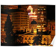 Pioneer Courthouse Square in Downtown Portland Poster