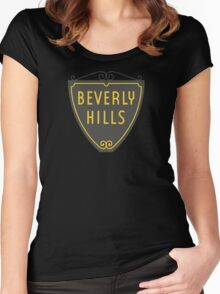 Beverly Hills Sign, Los Angeles, California Women's Fitted Scoop T-Shirt
