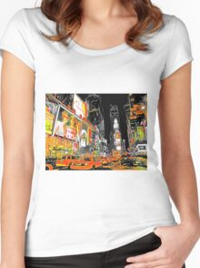 Times Square Taxis Women's Fitted Scoop T-Shirt