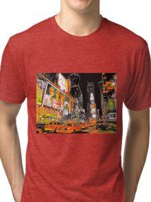 Times Square Taxis Tri-blend T-Shirt