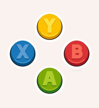 Xbox Controller Buttons Sticker