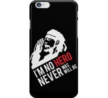 MGS07 - SALUTE, NO HERO iPhone Case/Skin