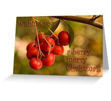 Berries 'n' bokeh - Christmas card Greeting Card