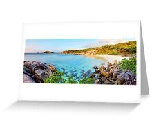 Pebbly & Sunset Beaches Greeting Card