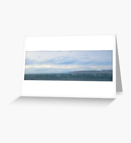 sea green, sea blue Greeting Card