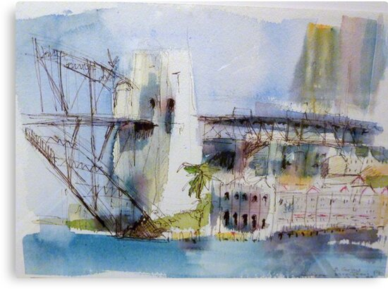 View of Sydney from McMahons Point by Barbara Gray