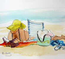 Sunday afternoon at the beach 1 by Barbara Gray
