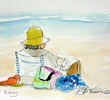 Sunday Afternoon at the beach 2 by Barbara Gray