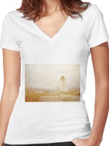Postcard from Nova Scotia Women's Fitted V-Neck T-Shirt