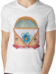 Campervan Mens V-Neck T-Shirt