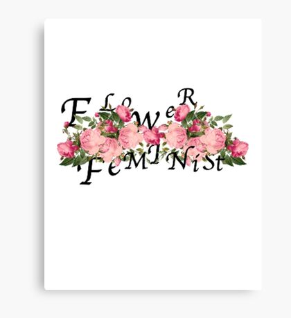 flower feminist Canvas Print
