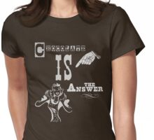 Chocolate is the answer Womens Fitted T-Shirt