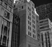5th Ave. at Central Park South 002 BW Sticker