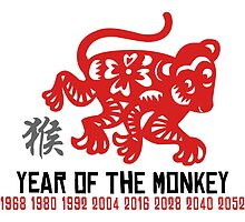 Chinese Zodiac Monkey Year of The Monkey Until 2052 by ChineseZodiac