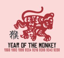 Chinese Zodiac Monkey Year of The Monkey Until 2052 One Piece - Long Sleeve