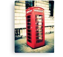 Red telephone box Canvas Print