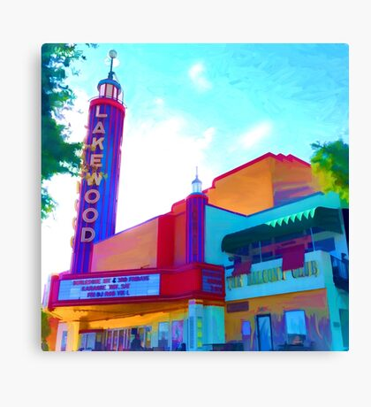 """Lakewood Theater"" Canvas Print"