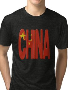 China flag Tri-blend T-Shirt
