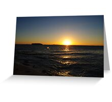 sunset part II Greeting Card