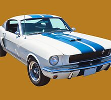 1965 GT350 Mustang Muscle Car by KWJphotoart
