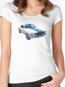 1965 GT350 Mustang Muscle Car Women's Fitted Scoop T-Shirt