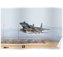 F-15C Eagle #AF 80-0028 Taking Off Poster