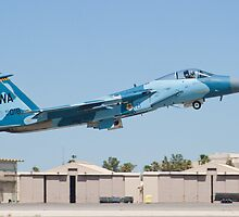 WA AF 80-0018 F-15C Eagle Taking Off by Henry Plumley