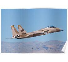 F-15C Eagle #WA AF 80-0024 Taking Off Poster