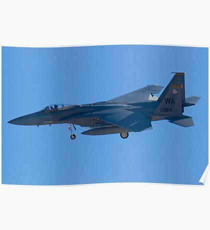 WA AF 84-0024 F-15C Eagle On Approach Poster