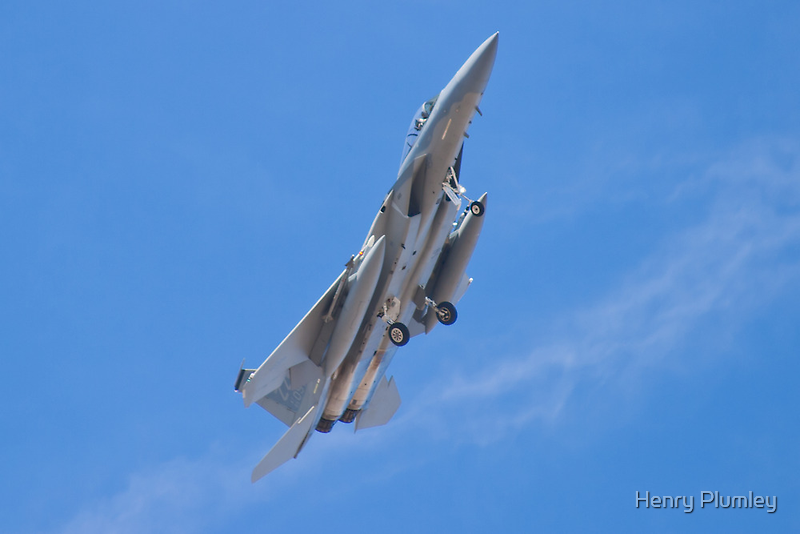 ZZ AF 85 0097, F-15C Eagle Banks While On Approach by Henry Plumley