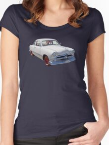 1950  Ford Custom Antique Car Women's Fitted Scoop T-Shirt