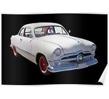1950  Ford Custom Antique Car Poster