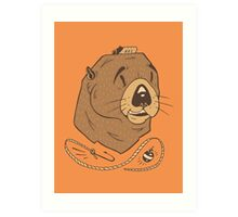 Sea Fairing Otter Art Print
