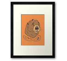Sea Fairing Otter Framed Print