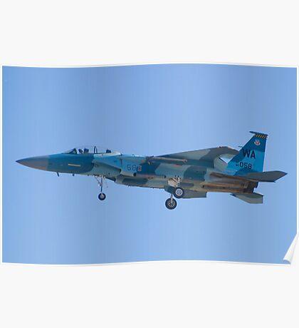 #WA AF 80 0058 F-15D Eagle on Approach Poster