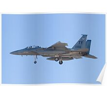 Side Shot of F-15D Eagle #TY AF 80 0056 on Approach Poster