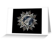 Wolf Emblem Greeting Card