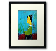 the walking stick Framed Print