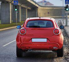 Car from rear by fotorobs