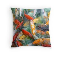 Red White and Gold Throw Pillow