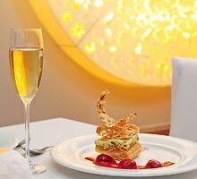 Dessert in restaurant by fotorobs