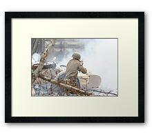 Battle incident Framed Print