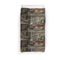 City - Pittsburg, PA - Wiener World Duvet Cover