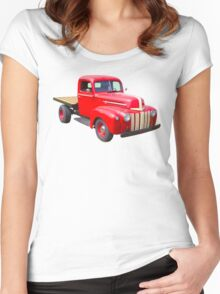 1947 Ford Flat Bed Antique Pickup Truck Women's Fitted Scoop T-Shirt