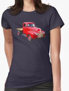 1947 Ford Flat Bed Antique Pickup Truck Womens Fitted T-Shirt