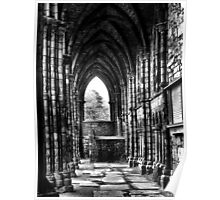 Darkness of HolyRood House - Arched passage Poster