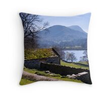 Traditional Barn - Ullswater - The Lake District Throw Pillow