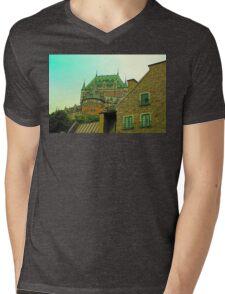 Le Chateau Frontenac Mens V-Neck T-Shirt